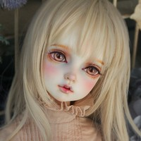 bjd sd doll limited set of single head with big sd10 bjd doll can be child doll(Presented eyes and makeup)