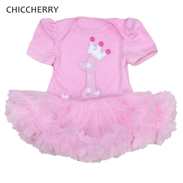 Princesa infantil 1 Años Niña Bebé Vestido Rosa de Encaje Tutu ...