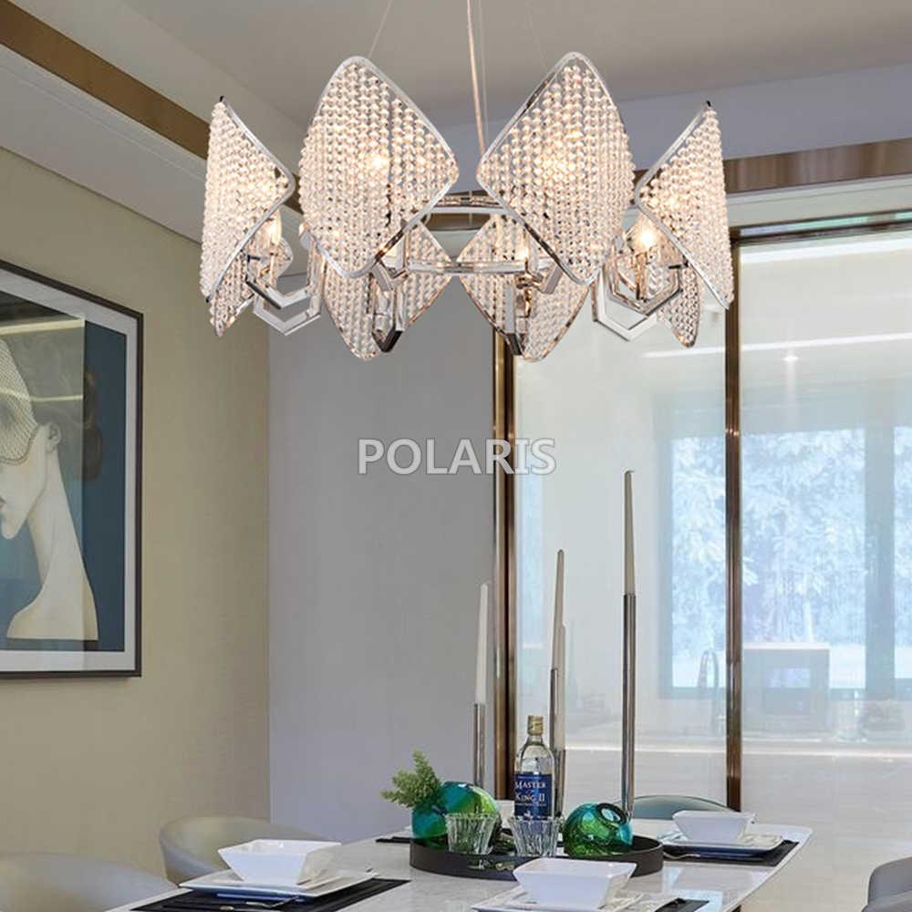 Современная хрустальная люстра светильник роскошные современные люстры подвесной светильник для украшение для дома и отеля