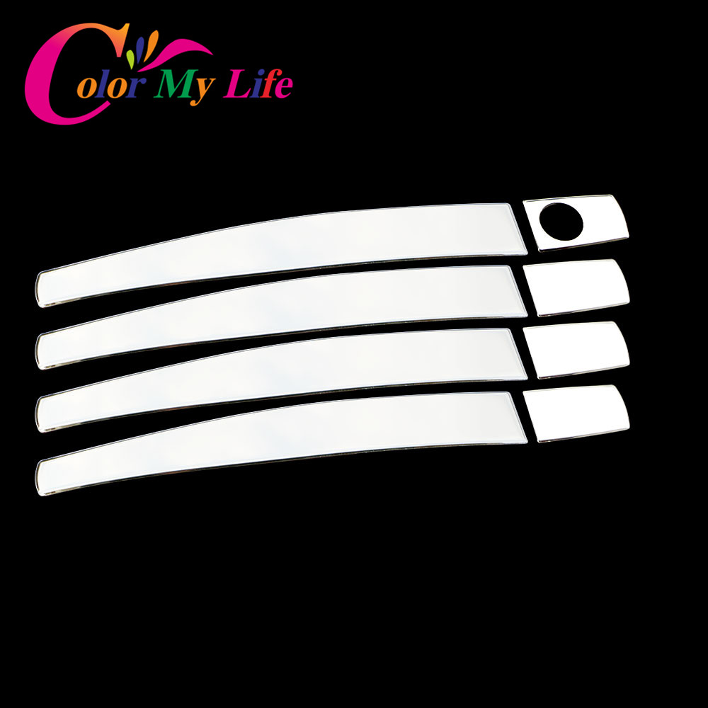 Color My Life Stainless Steel Door Handle Cover Sticker for Opel Zafira Astra Insignia Vauxhall Mokka ASTRA J Cruze Malibu Trax car stainless steel headlight switch cover stickers for opel mokka chevrolet cruze sedan hatchback malibu trax auto accessories