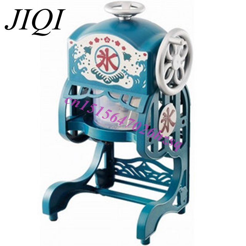 JIQI Household Electric Ice Crusher automatic Ice Shaver machine ice slush maker ice crusher summer sweetmeats sweet ice food making machine manual fruit ice shaver machine zf