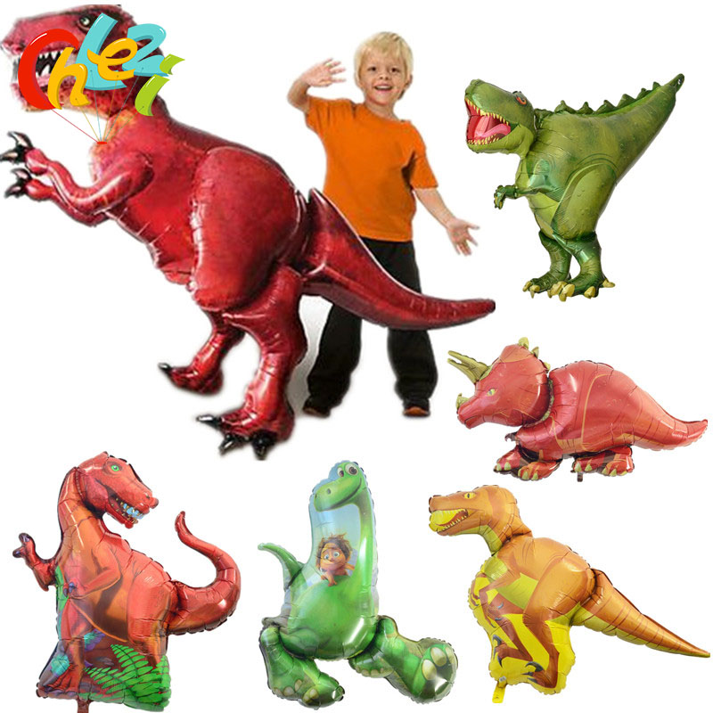 Toys & Hobbies Cartoon Hats Giant Dinosaur Foil Balloon Boys Animal Balloons Childrens Dinosaur Birthday Party Jurassic World Decorations Cartoon Hats