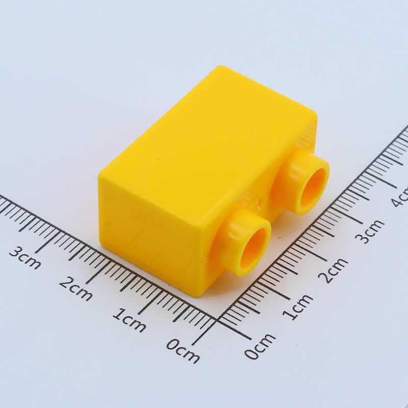 Diy большой размер строительный блок 1X2 толстый кубик Базовая пластина аксессуары совместимый с legoingly Duploed детские игрушки для детей