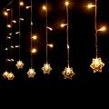 4*0.6M 220V Snowflake New Year Garland Christmas Fairy Lights LED Christmas Light Xams Party Decoration Curtain String Lighting