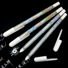 White Ink Color Photo Album 0.8MM Gel Pen Cute Unisex Pen Gift For Kids Stationery Office Learning School Supplies office stationery 312g unisex pen erasable pen unisex 0 5 gel pen 2 color choose learning essential free shipping