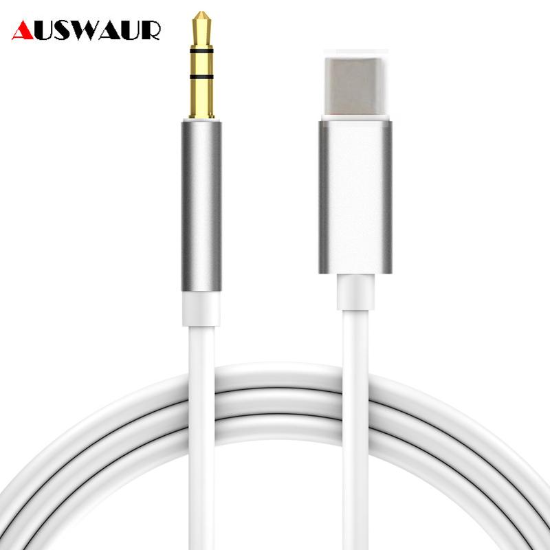 1M Type C To 3.5 Mm Audio Cable Adapter For USB C Type-c Jack Aux Cable For Car Stereo Speaker For Huawei P30 Xiaomi