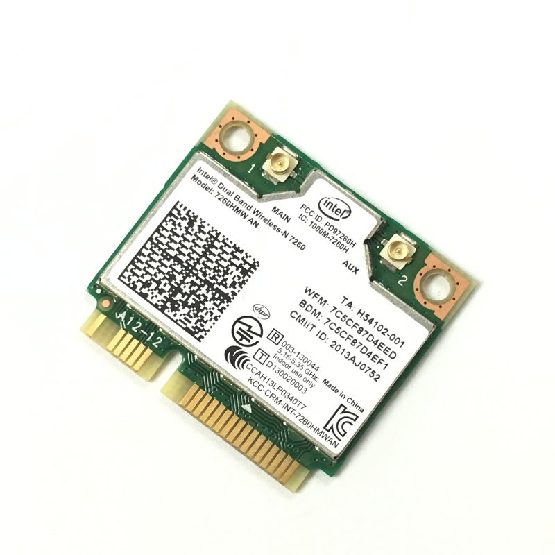 Dual Band Wireless N 7260HMWAN 7260 7260hmw An Wifi Bluetooth 4.0 Card For Intel Mini PCI-E 300Mbps Network 2.4G/5G  717381-001