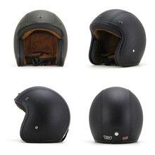 Moda vintage open face 3/4 cascos de motocicleta con gafas máscara y gafas halley retro scooter moto cascos casco dot
