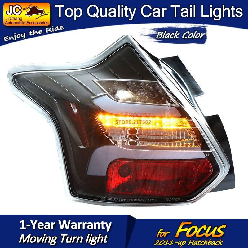 Для Ford Hatchback Focus черный корпус светодиодный задний фонарь в сборе подходит для автомобилей на 2011 год с последовательным индикатором простая ... - 2