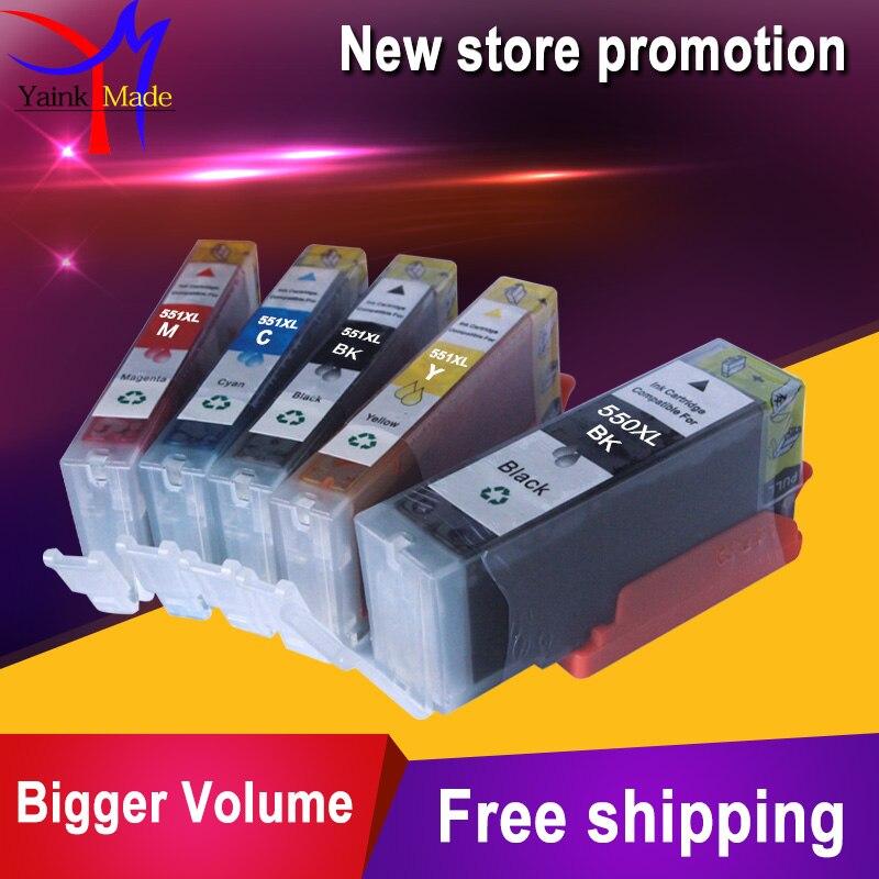 Compatible ink cartridge PGI-550 CLI-551 for canon Pixma MG5400 MX925 MX725 MG5450 MG5550 MG6350 MG6450 MG5650 IP7250 pgi550XL boma ltd 5color ciss system auto reset chip for canon pixma mg5450 mg5550 mg6450 mg6650 mg7150 mg5650 ip8750 pgi 550 cli 551