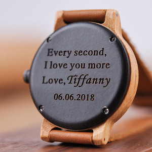 Image 3 - Engraved Wood Watches for Men Women Anniversary Lovers Engagement Gift Personalized Watch for Father Gift for Son