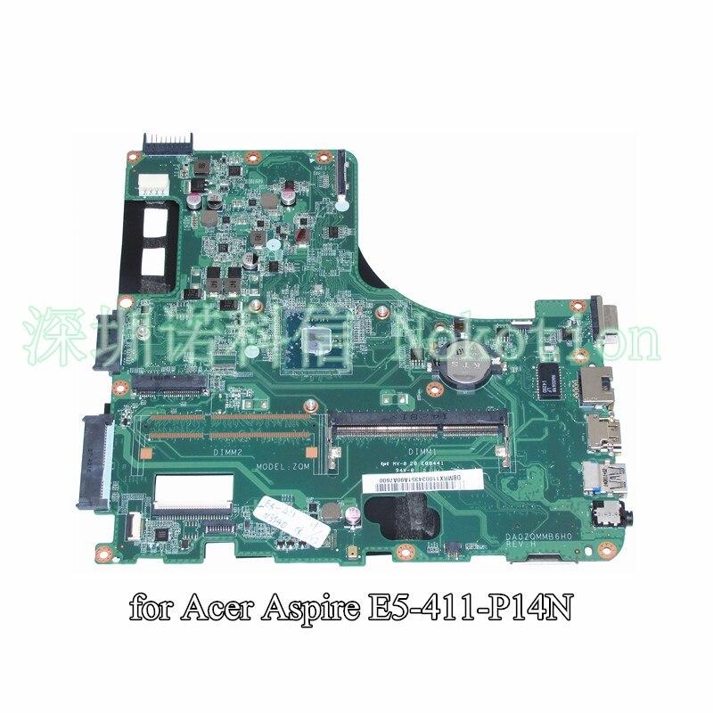 DA0ZQMMB6H0 DBMRX11003 DB.MRX11.003 For acer Asipre E5-411 laptop motherboard SR1YW N3540 CPU onboard DDR3