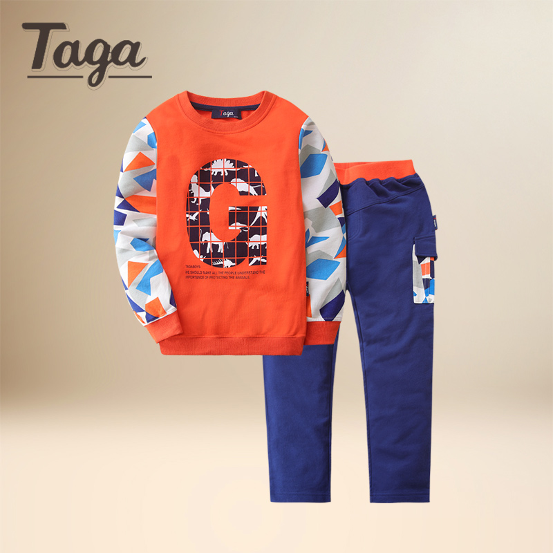 TAGA baby Boys Clothing Sets Baby Spring Autumn Sports Casual Long Sleeve Shirt+Pants Kids 2PCS Cotton sets Tracksuit For Boys kids clothes sets wholesale spring and autumn boys sports leisure suit t shirt hoodie long pants free shipping in stock