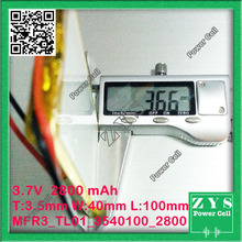 3540100 three.7V 2800mah Lithium polymer Battery with Safety Board For PDA Pill PCs Digital Merchandise Free Transport
