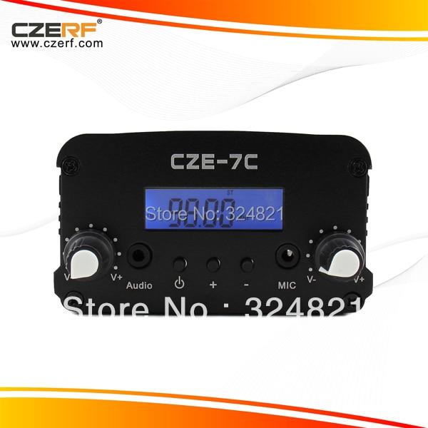 Free Shipping CZE-7C 7W Wireless Microphone FM Transmitter
