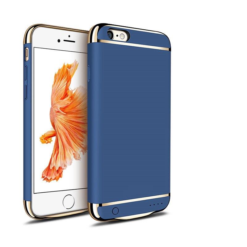 imágenes para 2016 de la moda de carga de la batería para iphone 6 6 plus ultra delgado abs + pc de la contraportada del caso del banco de potencia powerbank para iphone 6s 6 s Plus