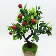 Plastic Tree Branch Craft Artificial Fruit Trees Home Furniture Decor Garden Plants Grass Foliage Simulation Flower
