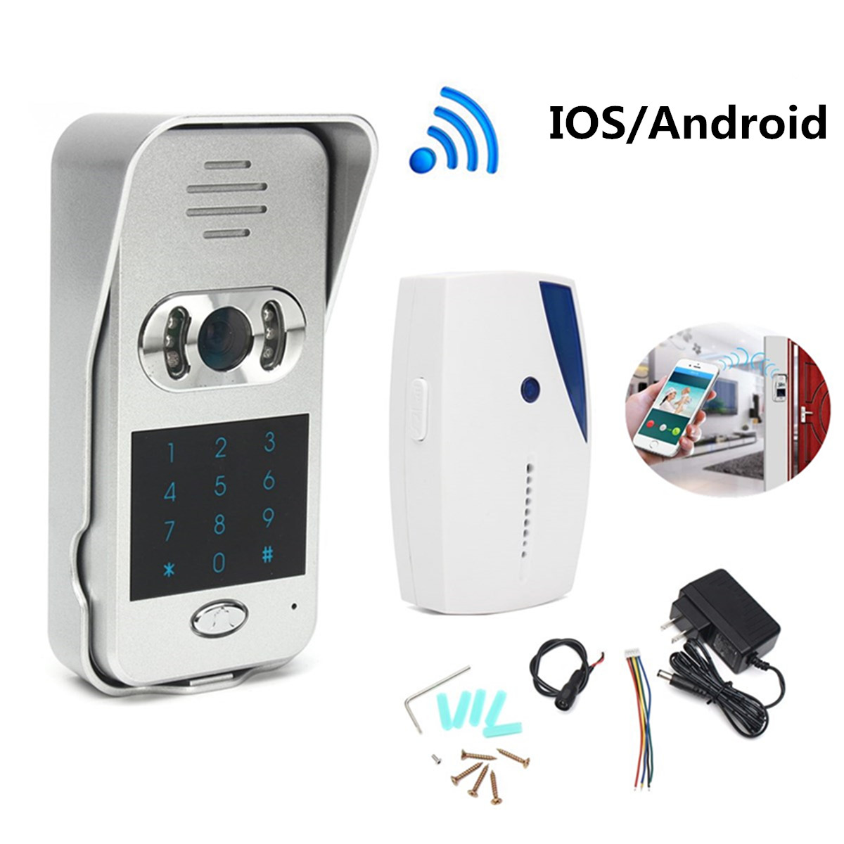 New Wireless Wifi/IP Remote Video Unlock Camera Phone Intercom Video Doorbell IR Home Security Building Automation new forcummins insite date unlock proramm