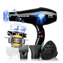 Saç Kurutma Makinesi 2400 W Mavi Işık Negatif Iyon Saç Şekillendirici 5 Tezgahlarda 220 V Profesyonel Darbe Kurutma Antibakteriyel & Toka saç Araçları