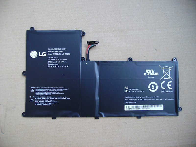 LBN722ZE 7.6V 3425mAh/26.03Wh Genuine Original Laptop Batteries For LG LBN722ZE Ultrabook