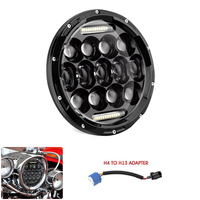 Universal 7 7 Inch 75W Round LED Projector Headlight Bulb for Harley Motorcycle and LED Headlamp For Yamaha V Star