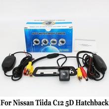Для Nissan Tiida C12 Хэтчбек 2011 ~ 2016/RCA AUX Проводной Или Беспроводной/HD Широкоугольный Объектив CCD Ночного Видения/Камера Заднего вида