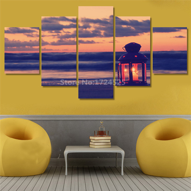 Unframed 5 Panels Ocean View Landscape Canvas Print Painting Modern ...