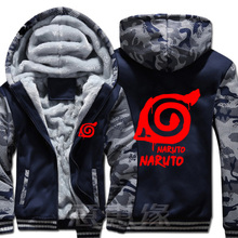 New Naruto Hoodie Anime Ootutuki Hagoromo Uzumaki Naruto Coat Jacket Winter Men Thick Zipper Sweatshirt