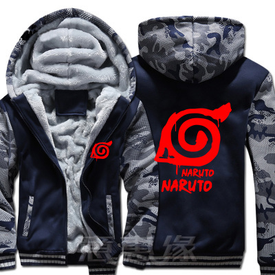 Amazing Naruto winter zipper jackets / coats