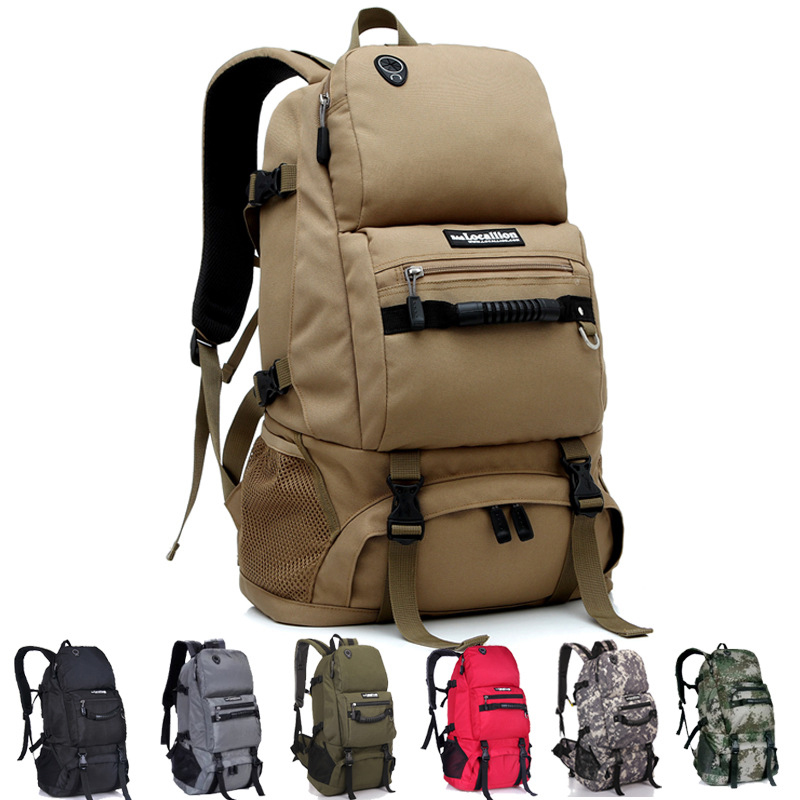 40L Outdoor Tactical Molle Backpack Military Camping Hiking Large Capacity Camouflage Field Water Resistant Rucksack Men Bags 35l waterproof tactical backpack military multifunction high capacity hike camouflage travel backpack mochila molle system