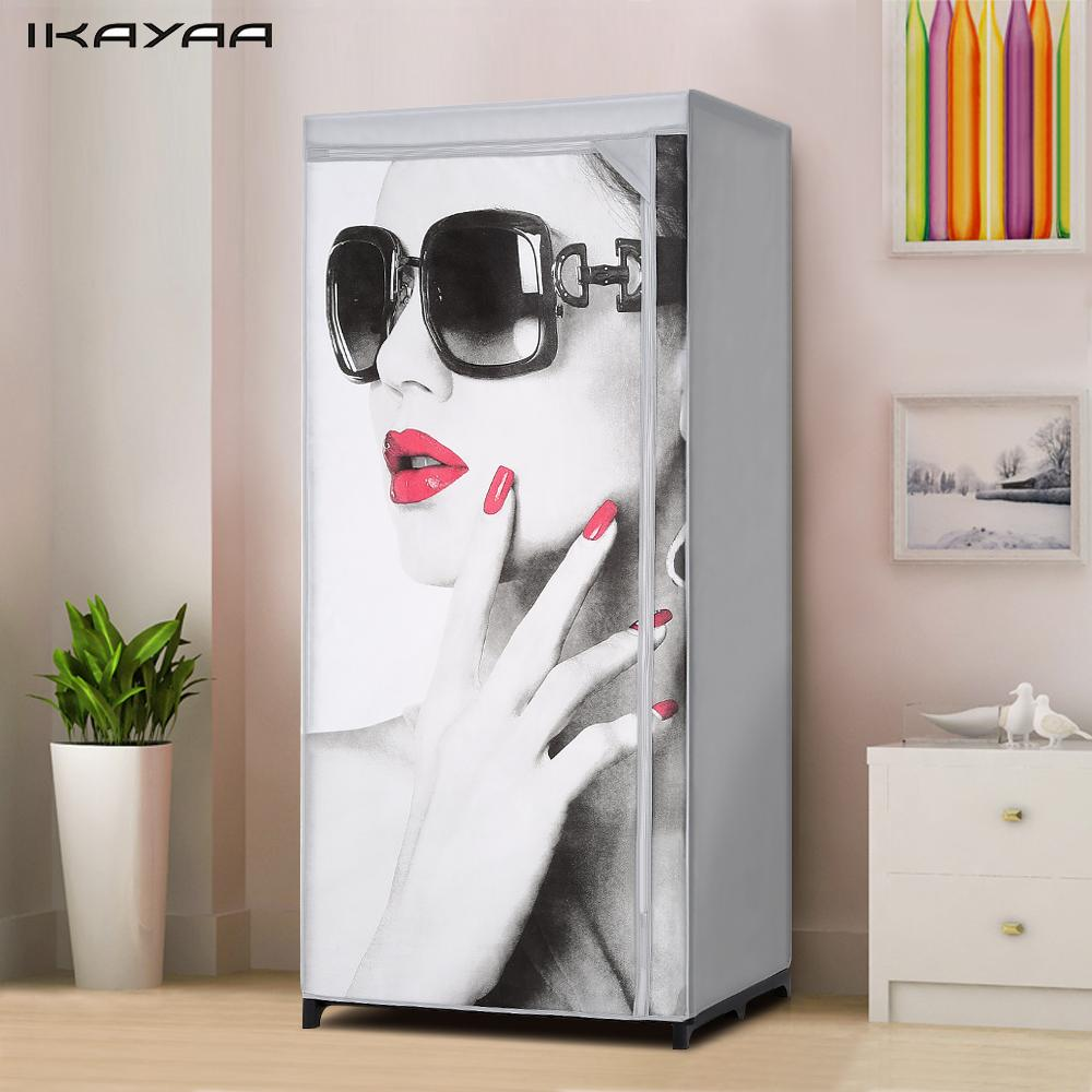 IKayaa Folding Cloth Wardrobe Fabric Closet Wardrobe
