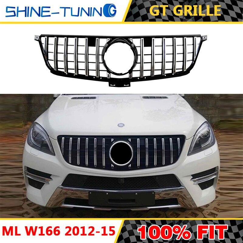 Ön ızgara için uygun Mercedes ML sınıf W166 AMG GT R izgara 2012-15 ML300 ML320 ML350 ml400 ML450 GT ızgara