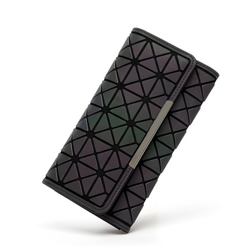 Women Wallets Purse Geometry Luminous Ladies Clutch Phone Bag Female Zipper Wallet Card Holder 1