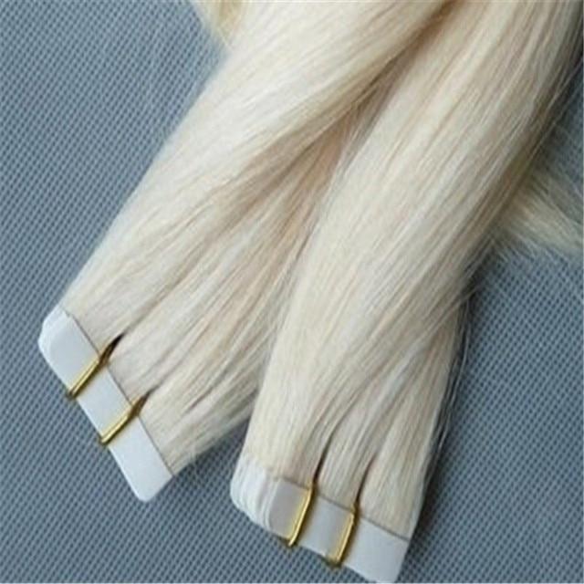 8a 40pcs Platinum Blonde Brazilian Hair Tape Hair Extensions 100g