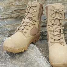 Winter Autumn Men Military Boots Special Force Tactical Desert Combat Ankle Boats Army Work Shoes Leather botas militares FM245