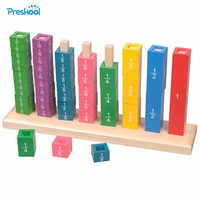 Montessori Kids Toy Baby Wood Fractional Frame Learning Educational Preschool Training Brinquedos Juguets