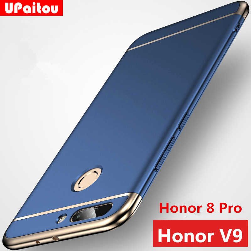 UPaitou Case For Huawei Honor 8 Pro Case for Honor Play 10 9 8 Lite 8X 8C Protect Back Cover Case 3 in 1 Hard PC Hybrid Case