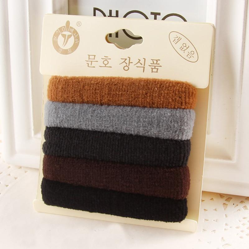 1 Pack Hohe Qualität Baumwolle Feste Elastische Haarband Stirnband - Bekleidungszubehör - Foto 3