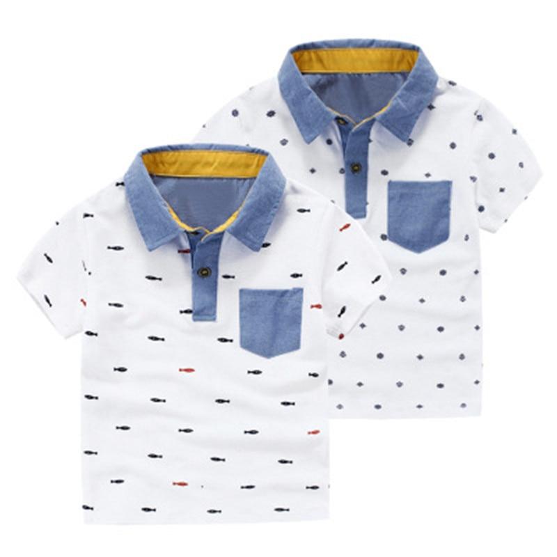 Children T-Shirts Short-Sleeve Kids Tops Baby-Boys Cotton Fashion Summer New Cool Tee
