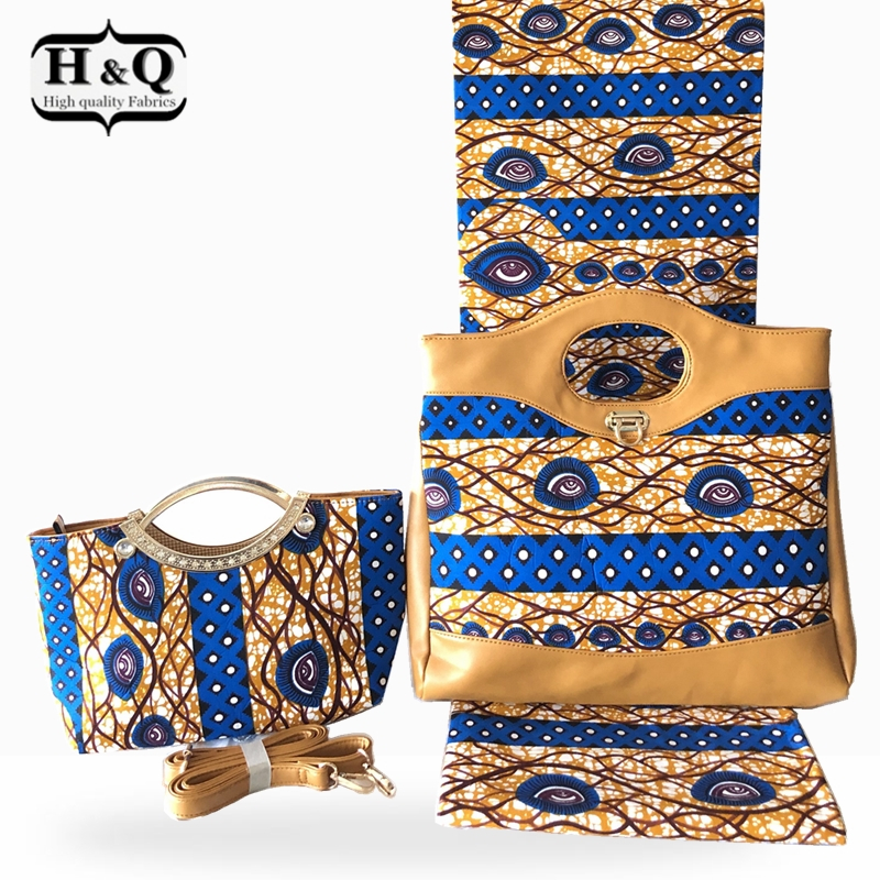 African Design Woman s Wax Bags High Quality 2019 Two Wax Handbag Matching 6 Yards African