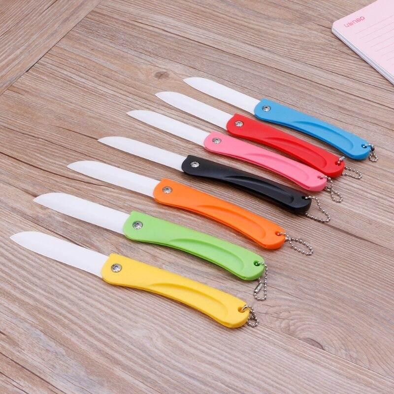 Folding Ceramic Utility Knife Letter Opener Stationery Cutter For Fruit Tools