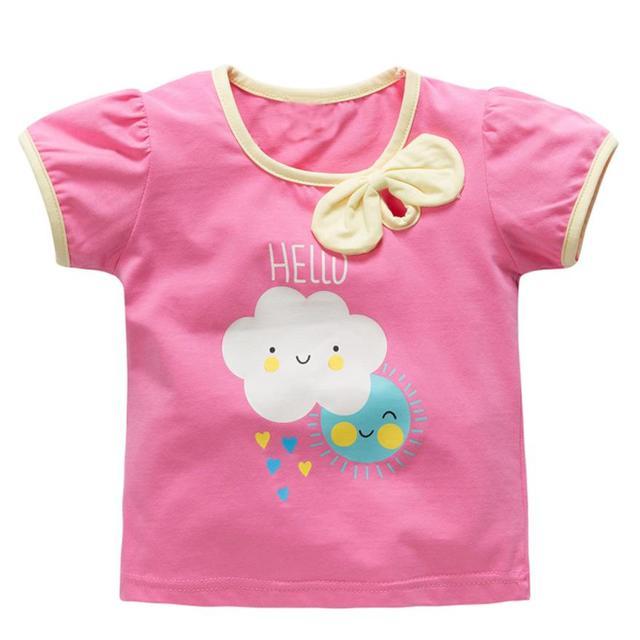 6dcac592174c00 Maluch Dzieci Chłopcy Dziewczyny Ubrania Z Krótkim Rękawem Topy T-Shirt  Blous baby girl boy