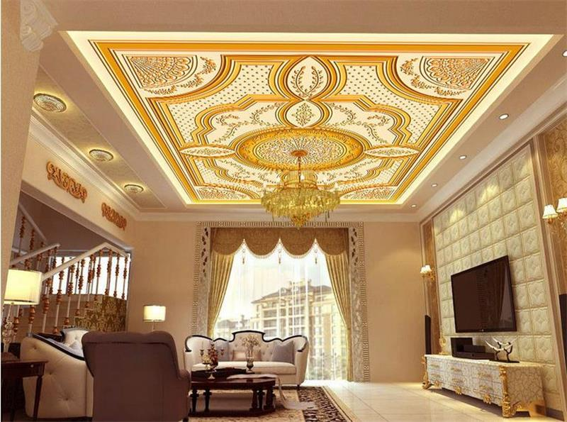 Online get cheap royale wallpaper for Ceiling mural wallpaper