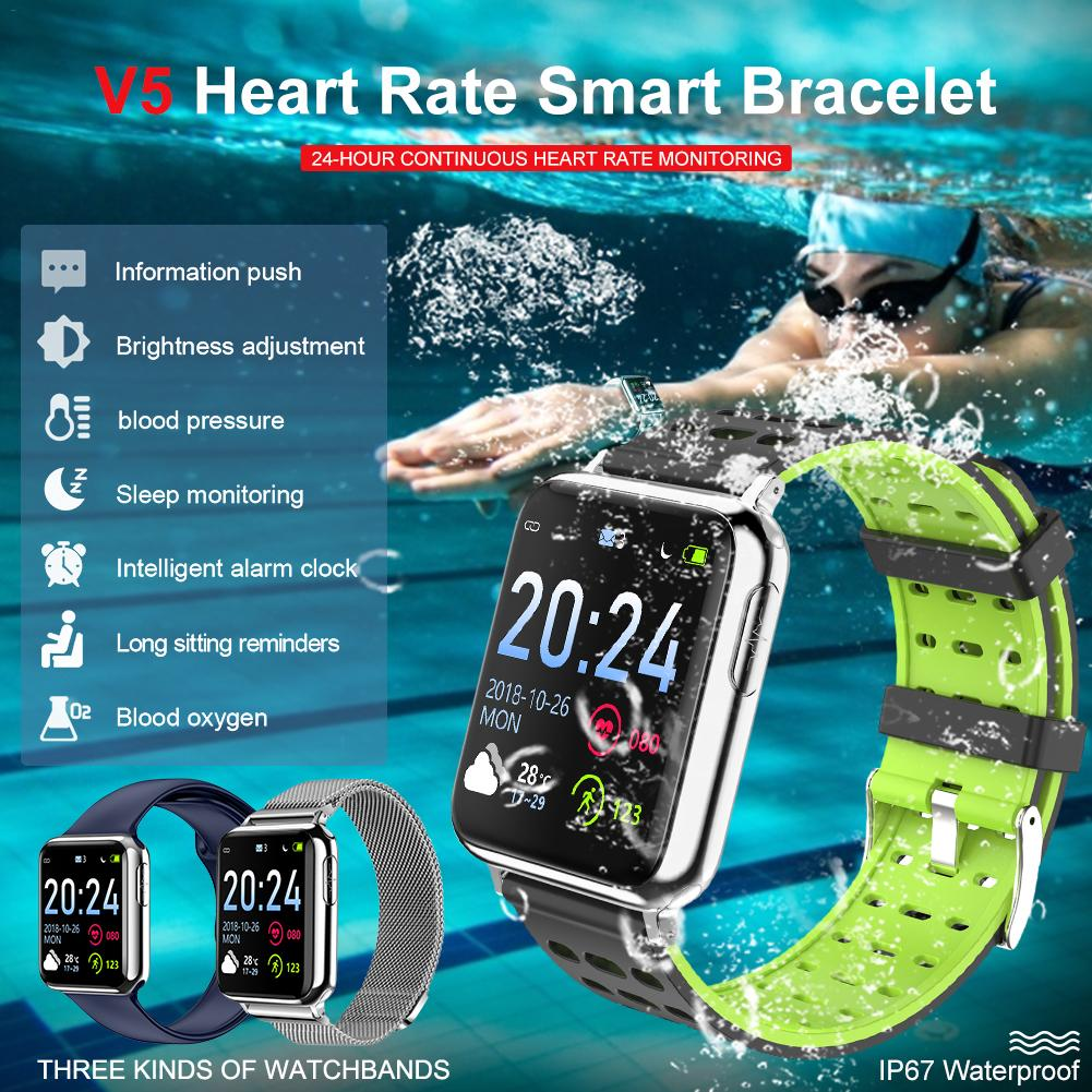 2019 New Smart Watch 1 3 Inch Color Screen ECG PPG Heart Rate Blood Oxygen Monitoring IP67 Waterproof Bluetooth Smart Watch in Smart Watches from Consumer Electronics