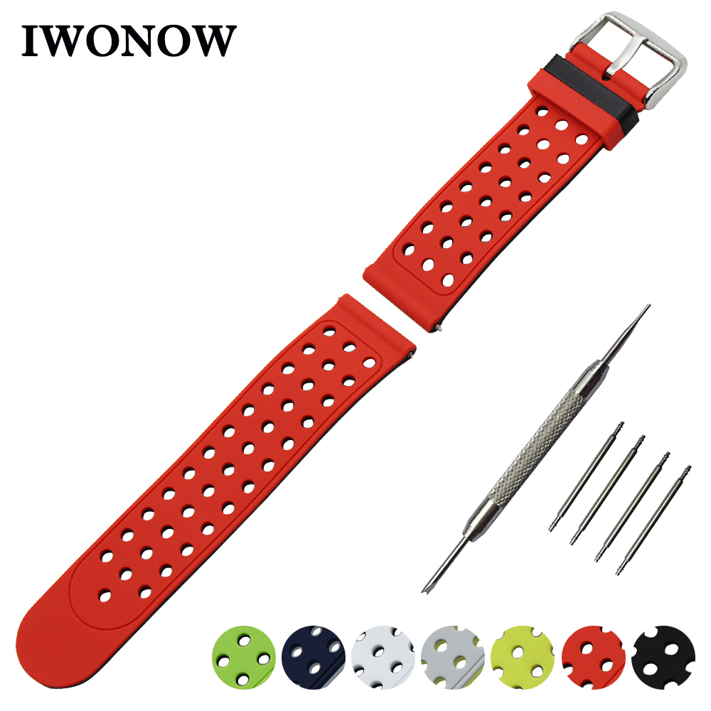 Silicone Rubber Watch Band 22mm 24mm for Diesel Double Side