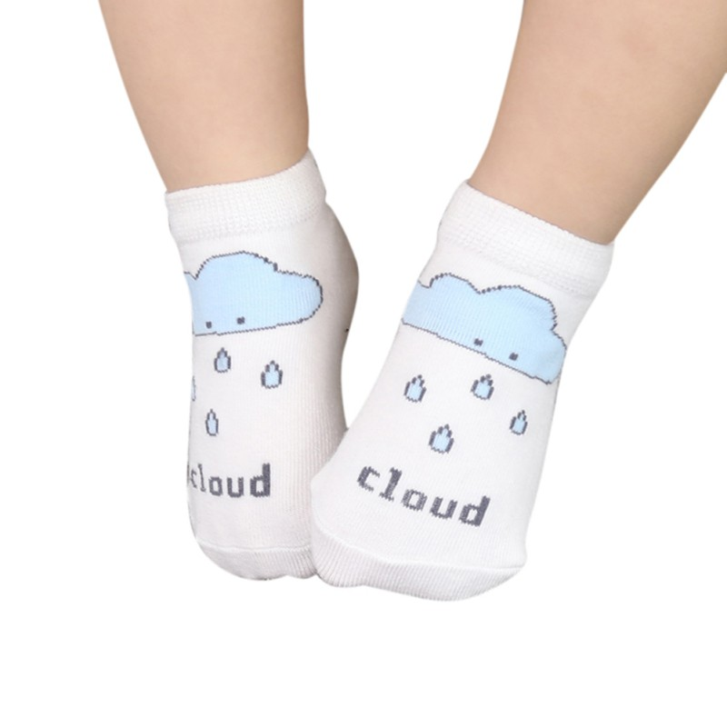 Baby Monother Store Kids Boys Girls Ankle Socks Infant Toddler Cartoon Sun Cloud Moon Printed Cotton Soft Sock