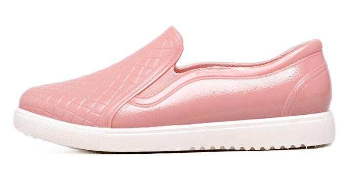 New 2017 Women Fashion PVC Rain Shoes Slip-on Lazy Flats Shoes Waterproof Crocodile Pattern Water Shoes Woman Wellies #RS12