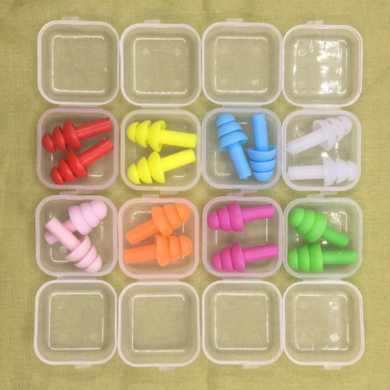 5 Pair Silicone Ear Plugs Anti Noise Protectors Noise Reduction Hearing Protection Travel Accessories
