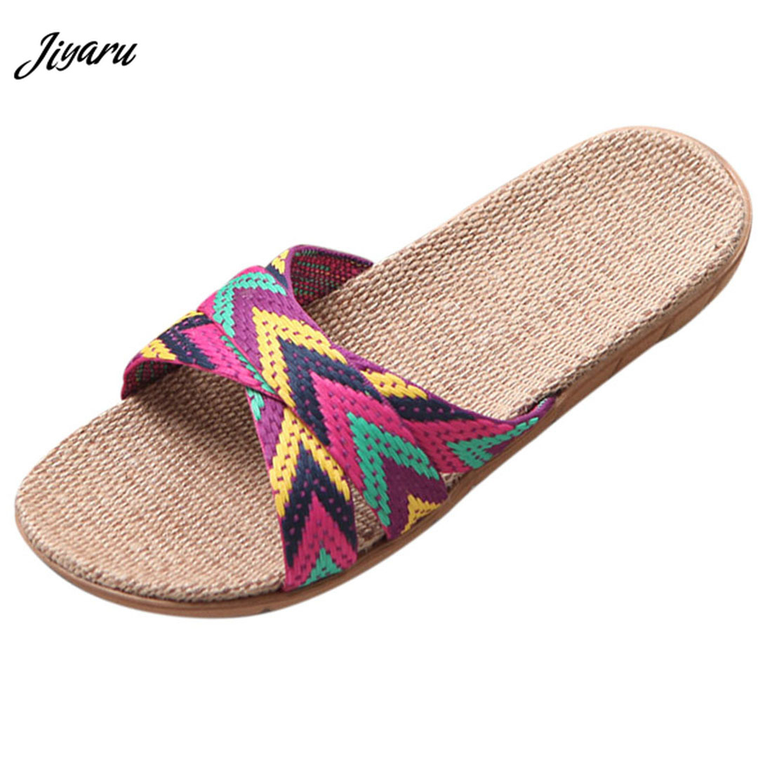 New Fashion Ladies Slippers Flax Summer Home Shoes Couple Non-Slip Bathroom Sandals Slipper Flat Indoor Shoes ComfortableNew Fashion Ladies Slippers Flax Summer Home Shoes Couple Non-Slip Bathroom Sandals Slipper Flat Indoor Shoes Comfortable