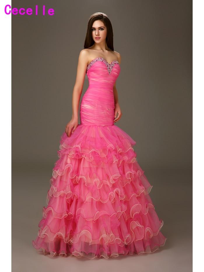 Formal Rosa caliente remolque tonos equipada sirena Vestidos de ...